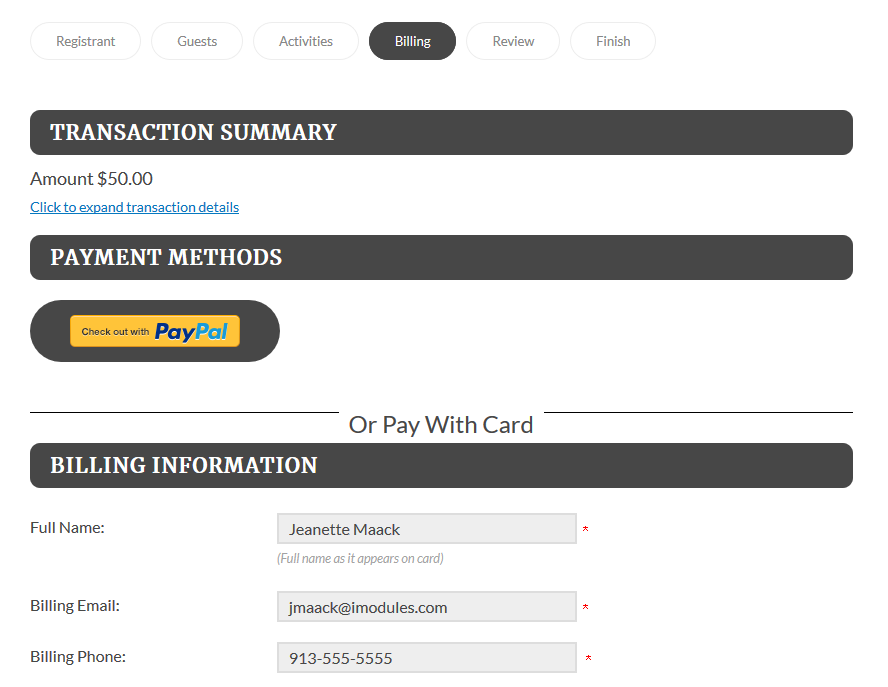 PayPal – iModules Support Center