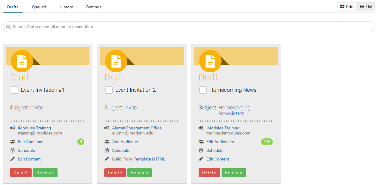 Email Home – iModules Support Center