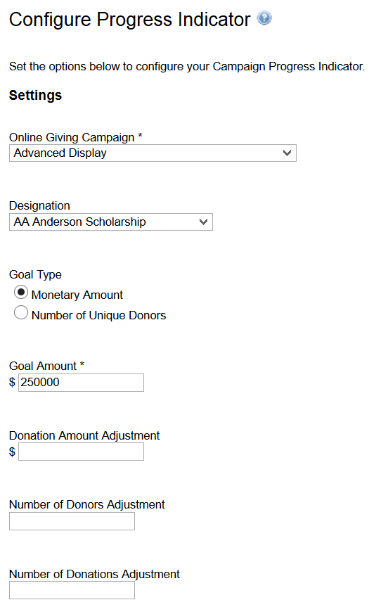 Campaign Progress Indicator – iModules Support Center